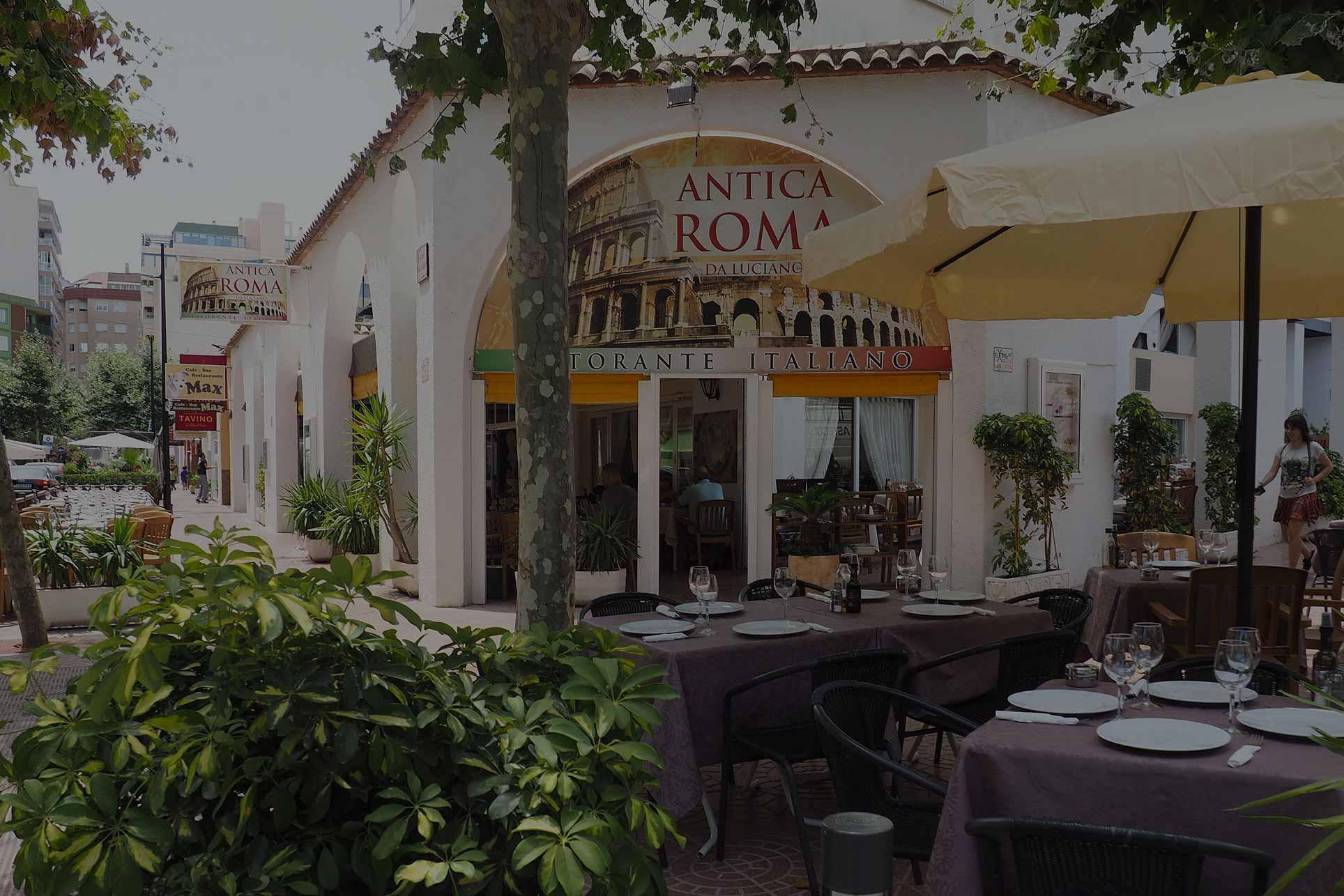 Entrada restaurante Antica Roma